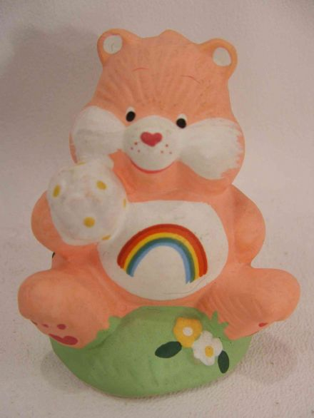 "VINTAGE 4"" CHEER CARE BEAR CERAMIC (2)"